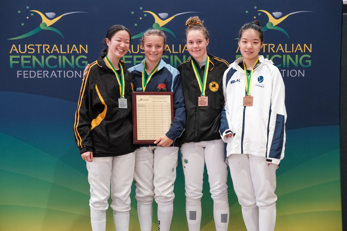Podium Australian Fencing Junior Championships 2020 Women's Epee
