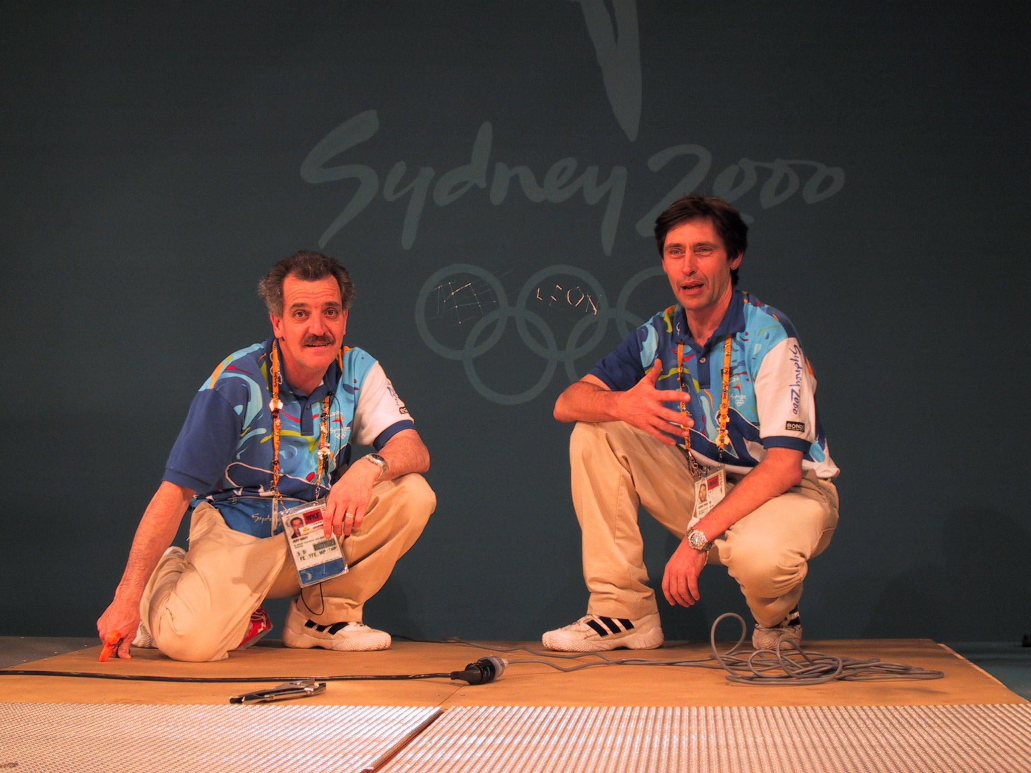 Sydney 2000 Olympics Jeff and Leon leave their mark