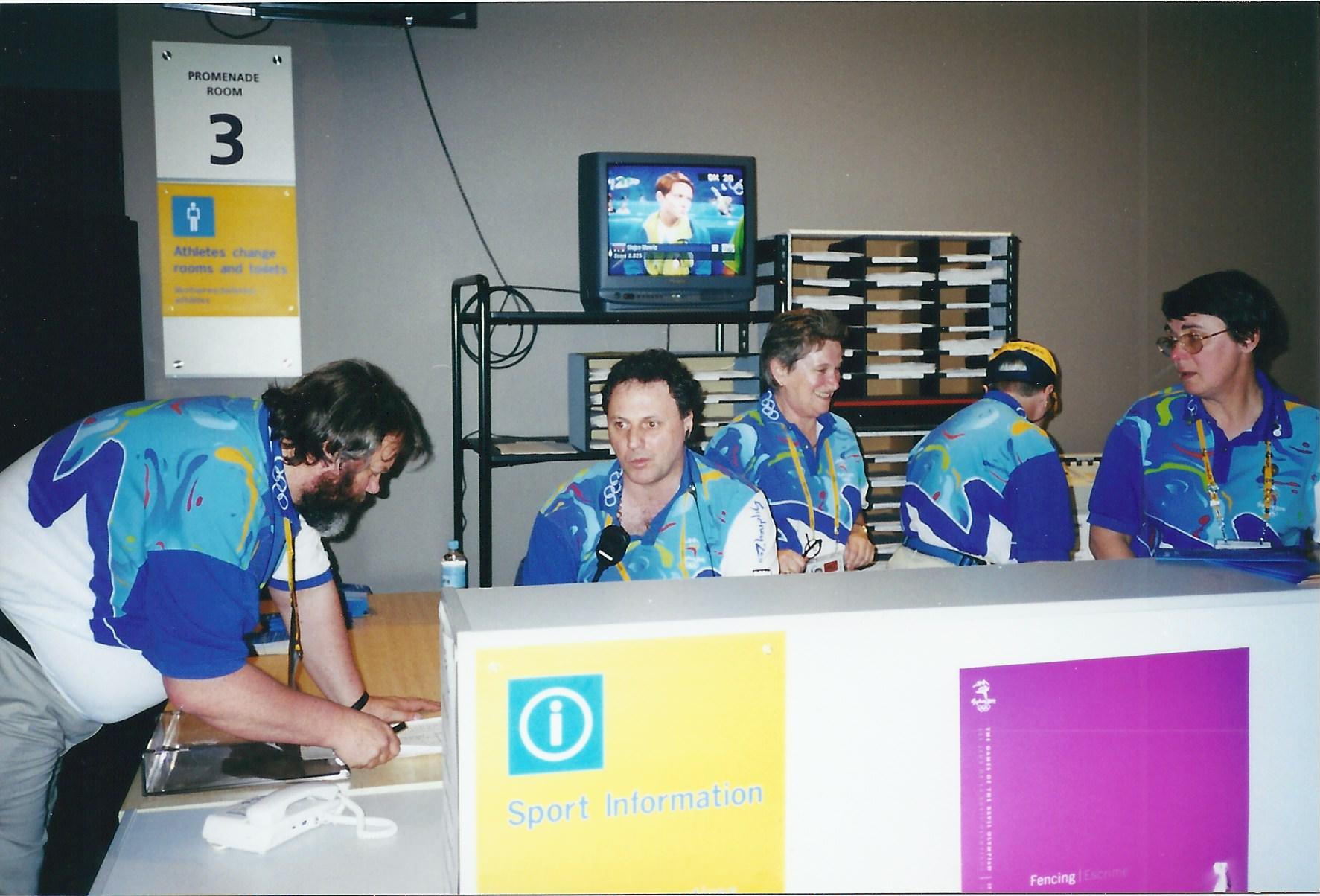 Sydney 2000 Olympics fencing sport information desk