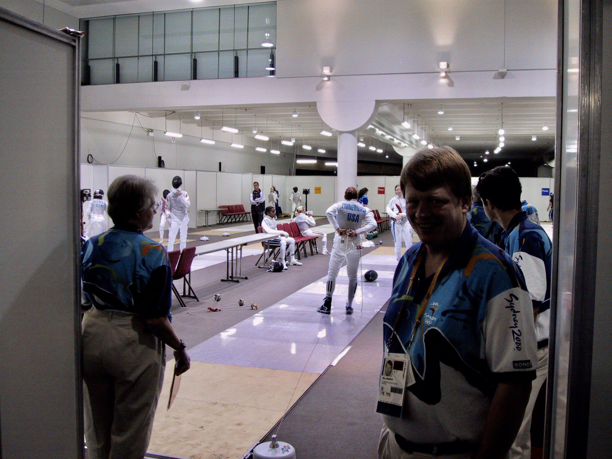 Sydney 2000 Olympics fencing warm-up hall