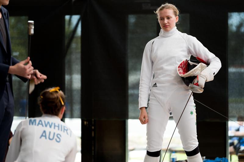 women in fencing